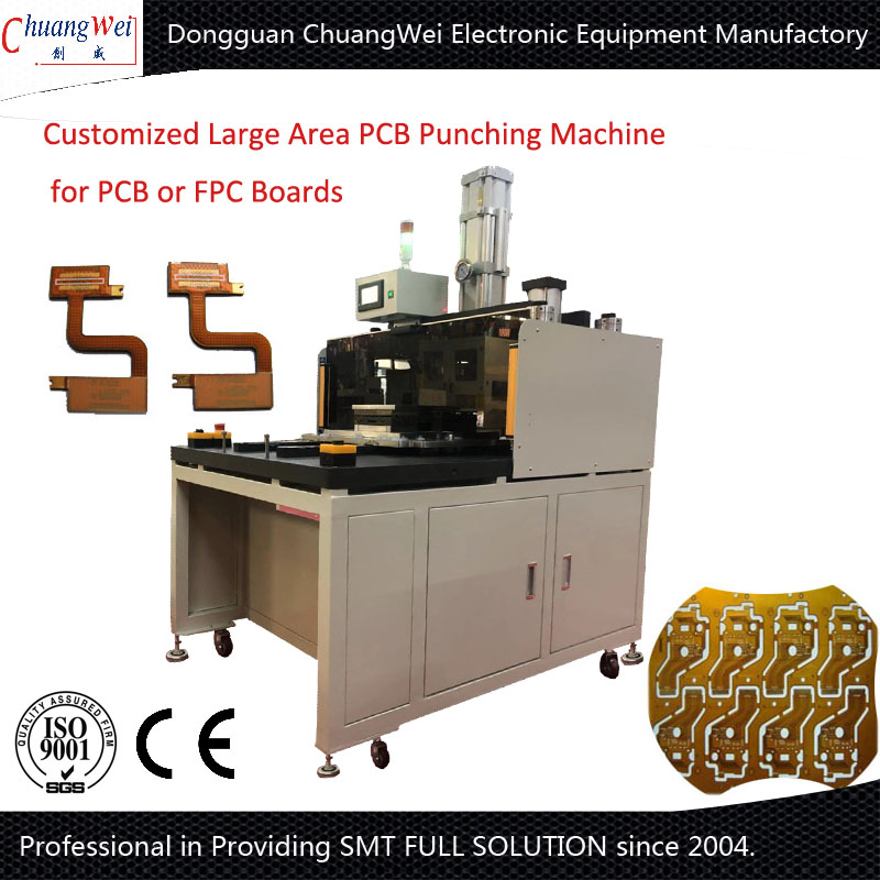 Customized Large Workarea PCB Punching Machine